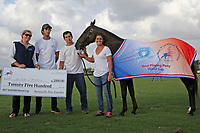 WELLINGTON, FL - APRIL 15:  Creciente is awarded the Best Play Pony for the $100,000 World Cup tournament by the American Polo Horse Association (APHA) for Adolfo Cambiaso, at the Grand Champions Polo Club, on April 15, 2017 in Wellington, Florida. (Photo by Liz Lamont/Eclipse Sportswire/Getty Images)