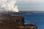 Volcanic eruption at end of Chain of Craters Road