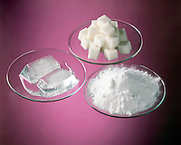 PURE SUBSTANCES HAVE DIFFERENT PROPERTIES<br /> Melting Ice Cube, Sugar &amp; Baking Soda<br /> Substances (also called 'pure substances') can be composed of one type of matter (elements) or more than one (compounds). The different types of matter in a substance cannot be separated by physical means, but only by chemical changes.
