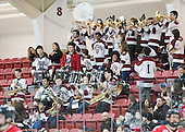 Harvard pep band - The Harvard University Crimson defeated the visiting Rensselaer Polytechnic Institute Engineers 5-2 in game 1 of their ECAC quarterfinal series on Friday, March 11, 2016, at Bright-Landry Hockey Center in Boston, Massachusetts.