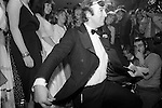 Dai Llewellyn taking a bow at the Alternative Deb of the Year Competition at Wedgies Night Club in the Kings Road, Chelsea, London 1982.<br /> <br /> Sir David St Vincent &quot;Dai&quot; Llewellyn, 4th Baronet (2 April 1946 &ndash; 13 January 2009 ),