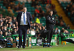 Celtic v St Johnstone.....04.03.15<br /> Tommy Wright and Ronnie Deila look on<br /> Picture by Graeme Hart.<br /> Copyright Perthshire Picture Agency<br /> Tel: 01738 623350  Mobile: 07990 594431