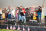 Fund raiser for firefighter Ray Pfeifer on Saturday, March 31, 2012, at East Meadow Firefighters Benevolent Hall, New York, USA. Come bands performed on stage.