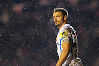 Phil Dollman of Exeter Chiefs looks on during a break in play. Aviva Premiership match, between Leicester Tigers and Exeter Chiefs on March 3, 2017 at Welford Road in Leicester, England. Photo by: Patrick Khachfe / JMP