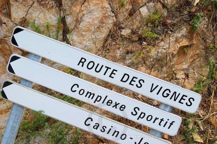 Route de Vignes - the vine road. Collioure. Roussillon. France. Europe.