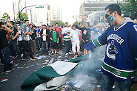 Citizens of Vancouver, Canada, riot in the streets of the city after the Vancouver Canucks lost to the Boston Bruins in Game 7 of the 2011 NHL Stanley Cup FInals, in Boston. MANDATORY CREDIT: (Scott Alexander/pressphotointl.com)
