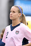 The United States' Leslie Osborne wearing a special pink Breast Cancer Awareness jersey on Saturday, May 12th, 2007 at Pizza Hut Park in Frisco, Texas. The United States Women's National Team defeated Canada 6-2 in a women's international friendly.