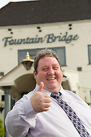 The Fountain Bridge carvery restaurant and pub at Kirkby in Ashfield, Nottinghamshire. Pictured is Carvery Heaven boss Michael Perry
