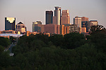 View of downtown Minneapolis from the University of Minnesota, just across the Mississippi River