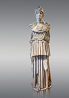 A Roman statue of the Parthenon Athena, a Roman copy of the great statue from the Parthenon in Athens.  Louvre Museum, Paris.