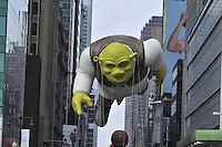 New York City, New York, Macy's Thanksgiving Day Parade, float, Shrek, 42 St