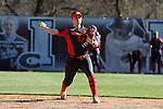 19 February 2017: Ohio State's Anna Kirk. The Ohio State University Buckeyes played the University of Louisville Cardinals at Anderson Family Softball Stadium in Chapel Hill, North Carolina as part of the ACC/Big 10 College Softball Challenge. OSU won the game 4-3.