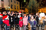 Una Flynn was turning on the Christmas lights in Killorglin last Saturday.