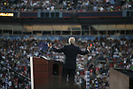 Democratic National Convention, 2008: Vice-Presidential candidate Joe Biden (D-Delaware) speaks before Senator Barack Obama (D-Illinois) accepted the Democratic Party's nomination to be its 2008 Presidential candidate. Invesco Mile High Stadium, Denver, Colorado, August 28, 2008.