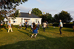 Caulfields play football in front of the Caulfield home in Granlahan, County Roscommon, Ireland on Tuesday, June 25th 2013. (Photo by Brian Garfinkel)