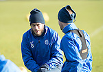 St Johnstone Training&hellip;03.02.17<br />Murray Davidson pictured talking with Steven MacLean during training this morning at McDiarmid Park ahead of Sunday&rsquo;s game against Celtic.<br />Picture by Graeme Hart.<br />Copyright Perthshire Picture Agency<br />Tel: 01738 623350  Mobile: 07990 594431