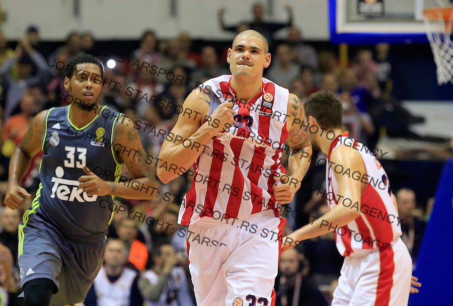 Kosarka Euroleague season 2015-2016<br /> Euroleague <br /> Crvena Zvezda v Real Madrid<br /> Maik Zirbes celebrates<br /> Beograd, 27.11.2015.<br /> foto: Srdjan Stevanovic/Starsportphoto &copy;
