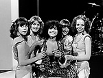 Marc Bolan 1977 with dancers Heart Throb celebrate final show of his Marc TV series. One week later he died in a car crash..