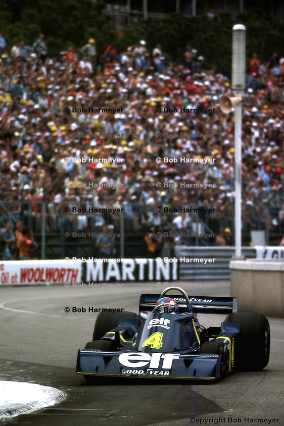 MONTE CARLO, MONACO - MAY 30: Patrick Depailler drives the Tyrrell P34 2/Ford Cosworth DFV during the Grand Prix of Monaco on May 30, 1976, on the temporary street circuit in Monte Carlo, Monaco.
