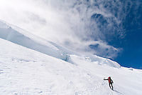 Nearing the summit of Mt Rainier. It's much easier to ski than it is to hike.