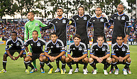 SANTA CLARA, CA - July 18, 2012: San Jose Earthquake starting lineup for the San Jose Earthquakes vs  FC Dallas match at the Buck Shaw Stadium in Santa Clara, California. Final score San Jose Earthquakes 2, FC Dallas 1.