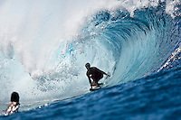 JOSH KERR (AUS) surfing a reef pass near Teahupoo, Tahiti, (Friday May 15 2009.) Photo: joliphotos.com