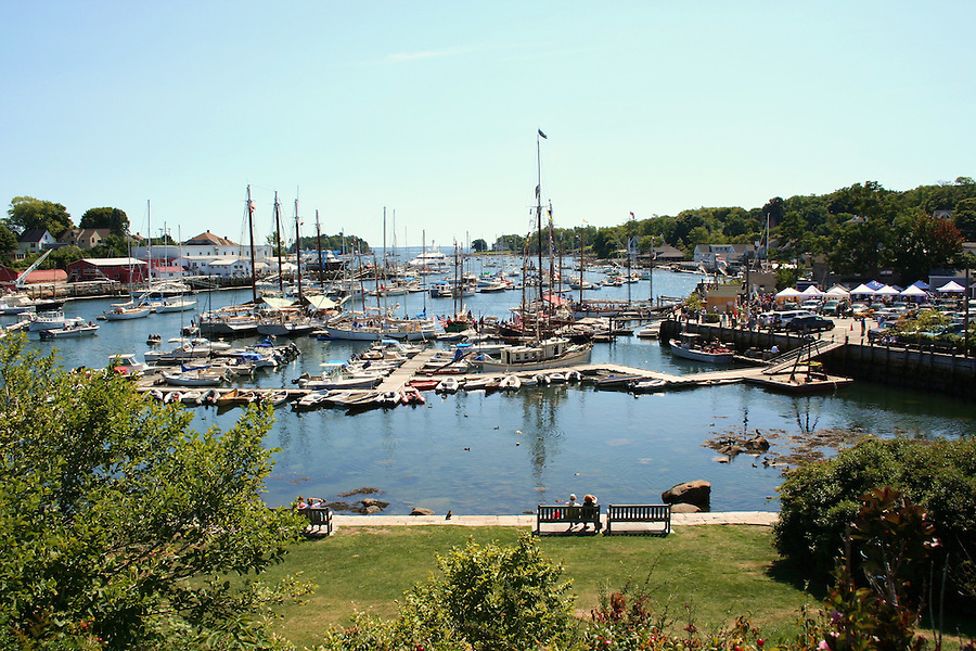 Camden Harbor in summertime