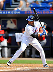 28 February 2011: New York Mets infielder Jordany Valdespin in action during a Spring Training game against the Washington Nationals at Digital Domain Park in Port St. Lucie, Florida. The Nationals defeated the Mets 9-3 in Grapefruit League action. Mandatory Credit: Ed Wolfstein Photo