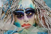 Fanciful mermaid at the Pumpkin festival, Damariscotta Maine, USA