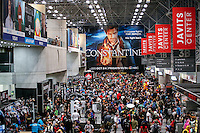 New York City, NY. 10 October 2014. A general View of the acob Javitz Center while People take part during the 2014 New York Comic Con. Photo by Kena Betancur/VIEWpress