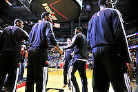 The Miami Heat players are introduced prior to tip-off against the Washington Wizards at the Verizon Center in Washington, D.C. on Tuesday, December 4, 2012.   Alan P. Santos/DC Sports Box