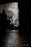 Pope Francis during of a weekly general audience at St Peter's square in Vatican. on October 12, 2016
