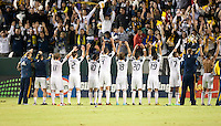 CARSON, CA – NOVEMBER 7:  LA Galaxy team thanking the fans for their support after a playoff soccer match at the Home Depot Center, November 7, 2010 in Carson, California. Final score LA Galaxy 2, Seattle Sounders 1.