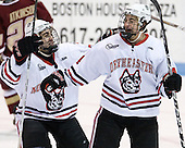 Cody Ferriero (Northeastern - 79), Braden Pimm (Northeastern - 14) - The Northeastern University Huskies defeated the visiting Boston College Eagles 2-1 on Saturday, February 19, 2011, at Matthews Arena in Boston, Massachusetts.