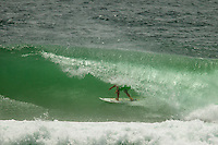 KIRRA, Queensland/Australia (Wednesday, March 13, 2013) Michel Bourez (PYF). - Kelly Slater (USA), 41, 11-time ASP World Champion and 2012 ASP World Runner-Up, has claimed the 2013 Quiksilver Pro Gold Coast in firing three-to-five foot (1 - 1.5 metre) barrels at Kirra over reigning ASP World Champion Joel Parkinson (AUS), 31, in front of a capacity crowd on the Gold Coast..The opening stop on the 2013 ASP World Championship Tour (WCT), the Quiksilver Gold Coast culminated in fine fashion today with a tube-riding shootout between two of the sport's greatest champions..Slater and Parkinson opened their 40-minute Final bout with a rapid-fire exchange of tube-riding displays, vaulting the lead back and forth before Slater nailed a 9.93 for an incredibly-deep barrel punctuated by a full-velocity forehand gaff..Today win marks Slater's 52nd elite tour victory of his career, but the iconic Floridian admits that it's a long season ahead in terms of the hunt for the 2013 ASP World Title...Parkinson looked unbeatable on the final day of the event, collecting a Perfect 10 in his morning Semifinal before posting an excellent 17.47 in his Final against Slater. However, the impressive scoreline would prove insufficient against the American's onslaught and the reigning ASP World Champion would post a Runner-Up finish in the opening event of the year..Mick Fanning (AUS), 31, two-time ASP World Champion (2007, 2009), went down in a barrel shootout this morning with Slater. Despite opening up with an impressive scoreline and an early lead, the Kirra local would ultimately fall to Slater in the dying moments of the heat - 18.60 to 19.37..Fanning collects an Equal 3rd place finish in the opening event of the season..Michel Bourez (PYF), 27, opened up this morning's action with a Semifinal bout against Parkinson. Despite being universally-celebrated as one of the most powerful surfers throughout the event, the Tahitian found himself at odds this morning after the Australian's quick star