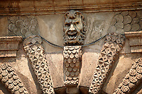 Baroque sculptures, architectural decoration, Palermo Sicily
