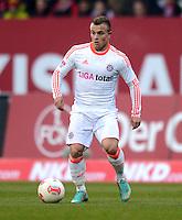 FUSSBALL   1. BUNDESLIGA  SAISON 2012/2013   12. Spieltag 1. FC Nuernberg - FC Bayern Muenchen      17.11.2012 Xherdan Shaqiri (FC Bayern Muenchen)