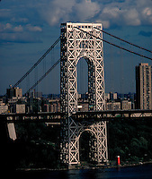 George Washington Bridge, New York City, Connecting New York With New Jersey, architect Othmar Ammann, Cass Gilbert