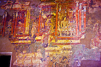 Murals in the Ajanta Caves Ajanta   UNESCO World Heritage Site, Inida      Buddhist cave paintings from second Cebtury BC   Maharashtra State