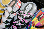 Buttons featuring Republican presidential candidate, Rep. Michele Bachmann at a campaign stop in Newton, Iowa, August 5, 2011.