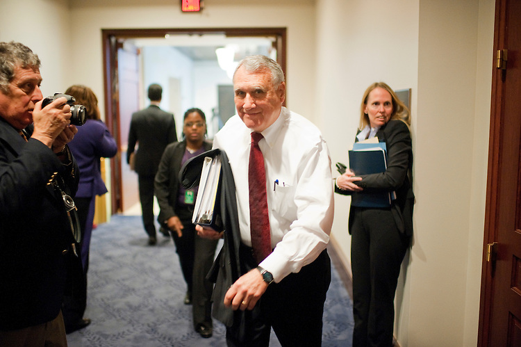UNITED STATES - OCTOBER 04:  Sens. Jon Kyl, R-Ariz., arrives for a meeting of the Joint Committee on Deficit Reduction, also known as the super committee, in the Capitol Visitor Center.  (Photo By Tom Williams/Roll Call)