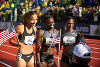 EUGENE, OR - June 23, 2012: The USA Track and Field Olympic Team Trials at Hayward Field in Eugene, Oregon on June 22, 2012.