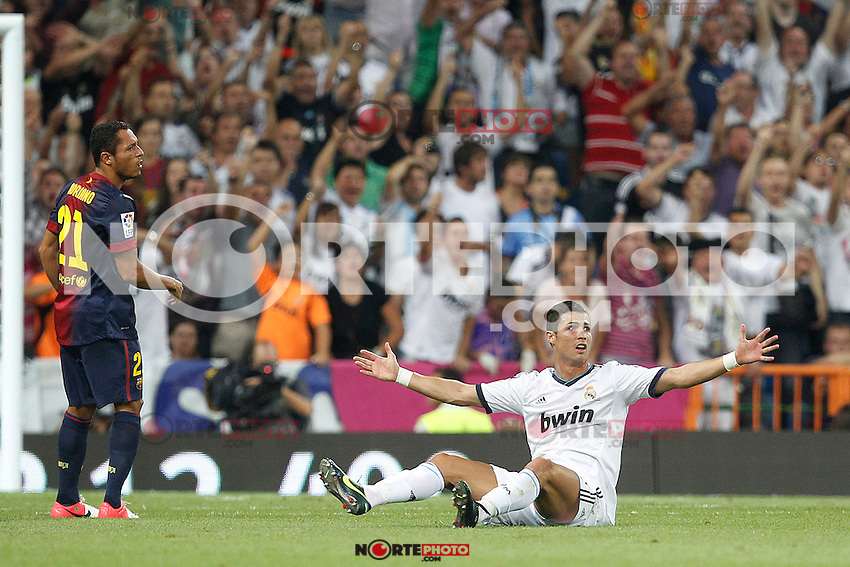 Real Madrid's Cristiano Ronaldo during Spanish Supercup 2nd match on august 29 2012...Photo: Cesar Cebolla / ALFAQUI /NortePhoto.com<br /> <br /> **CREDITO*OBLIGATORIO** <br /> *No*Venta*A*Terceros*<br /> *No*Sale*So*third*<br /> *** No*Se*Permite*Hacer*Archivo**<br /> *No*Sale*So*third*