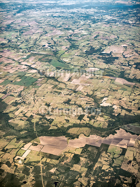 East Texas, south of Paris,  from a window seat flying to Pittsburgh, Penn