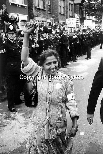 Mrs Jayaben Desai leader of Asian Women's Strike at Grunwick, North London 1977.