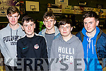 Basketball Fans<br /> ---------------------<br /> Enjoying the Ball game between Tralee Worriors and Swords Thunder of Dublin at Tralee sports complex last Saturday night were L-R Cian Talbot, Ronan Dalton, with Michael, Ciaran&amp;Shane kelliher.