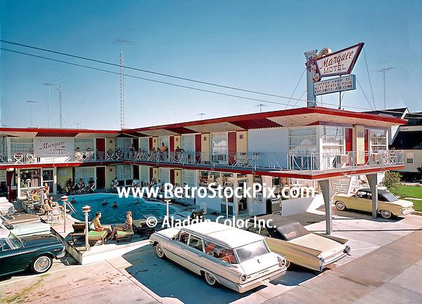 Marquee Motel North Wildwood NJ Exterior 1960's photograph.