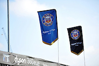 A general view of Bath Rugby flags. Aviva Premiership match, between Bath Rugby and Harlequins on February 18, 2017 at the Recreation Ground in Bath, England. Photo by: Patrick Khachfe / Onside Images