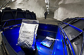 Bags of seeds that are kept under vacuum at low temperature in the Global Seed Vault, Svalbard, Norway.