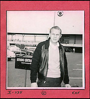 BNPS.co.uk (01202 558833)<br /> Pic: DominicWinter/BNPS<br /> <br /> Steve McQueen pictured in a car park.<br /> <br /> A remarkable set of 430 candid photographs of Hollywood royalty have been unearthed after 50 years.<br /> <br /> Included in the collection of unpublished pictures are snaps of silver screen icons Paul Newman, Charlie Chaplin, Bette Davis, Audrey Hepburn, and Dean Martin.<br /> <br /> Paul Newman is captured looking over his shoulder at the wheel of his car and Charlie Chaplin is pictured without his trademark moustache. <br /> <br /> Audrey Hepburn has posed with her then husband actor Mel Ferrer while Bette Davis can be seen puffing on a cigarette.<br /> <br /> The snaps were taken by obsessive amateur photographer Dwight 'Dodo' Romero from 1954 to 1967 who would hang around at Hollywood parking lots and other hang-outs to catch a glimpse of the stars.<br /> <br /> The photos, which more recently belonged to a book dealership in York, have emerged for auction and are tipped to sell for &pound;800.